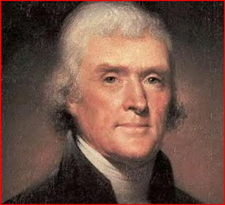 Photo of President Thomas Jefferson, the rapist of Sally Hemings