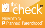 badge linking to planned parenthood information about STD checks