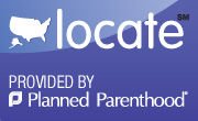 badge linking to planned parenthood information about clinic locations