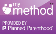 badge linking to planned parenthood information about birth control methods
